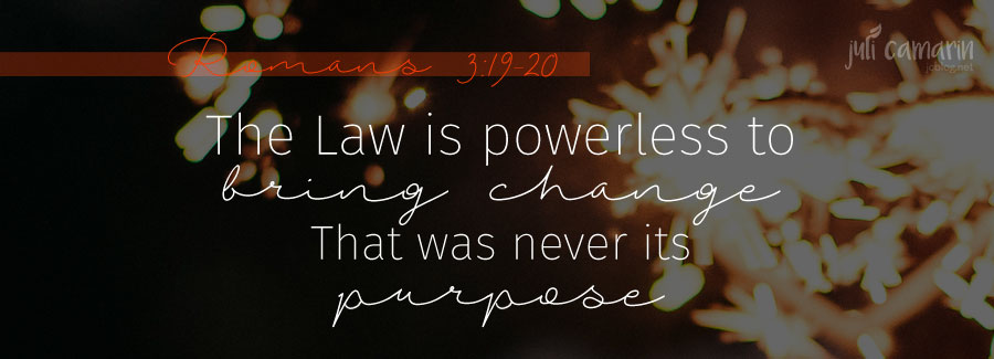 The Purpose of the Law—Romans 3:19-20